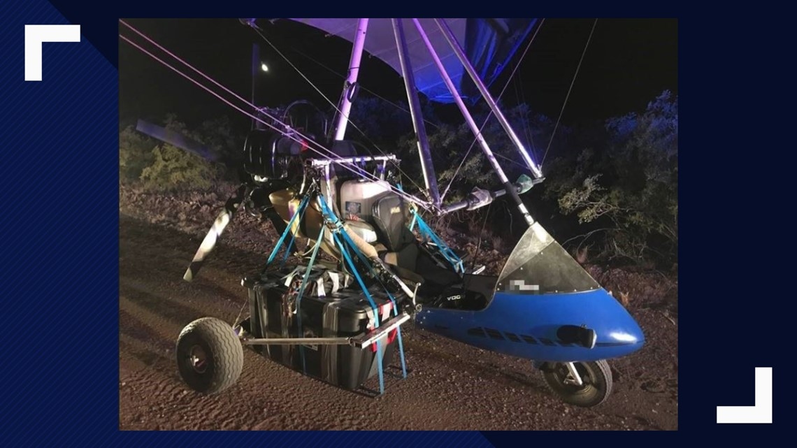 Border Patrol seizes ultralight aircraft loaded with meth, fentanyl