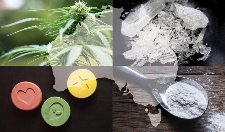 Cannabis, ice, MDMA and heroin