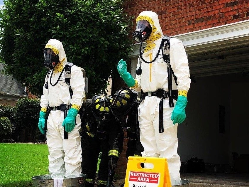 A hazmat team was called to a Woodstock house Thursday after fentanyl was found inside.