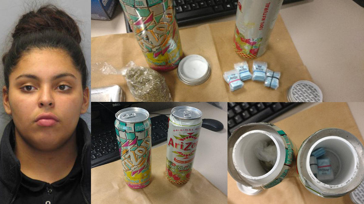 Del. Woman Hides Fentanyl, Crack Cocaine, Marijuana in Iced Tea Cans With Stepdaughter in Car, Police Say