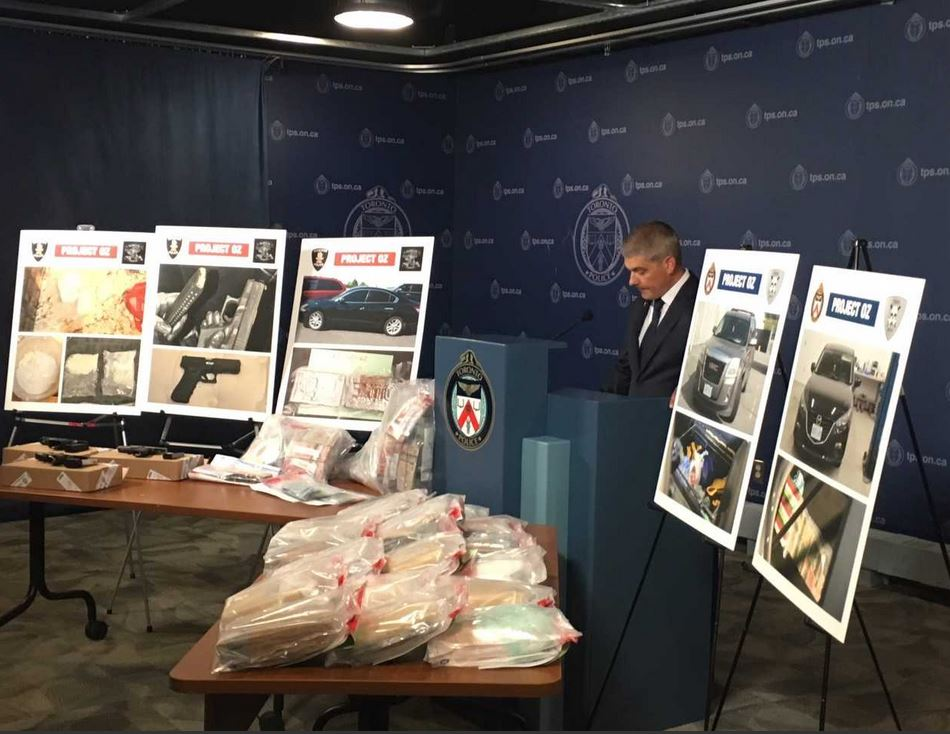 Cops seize fentanyl, cocaine and guns in big bust